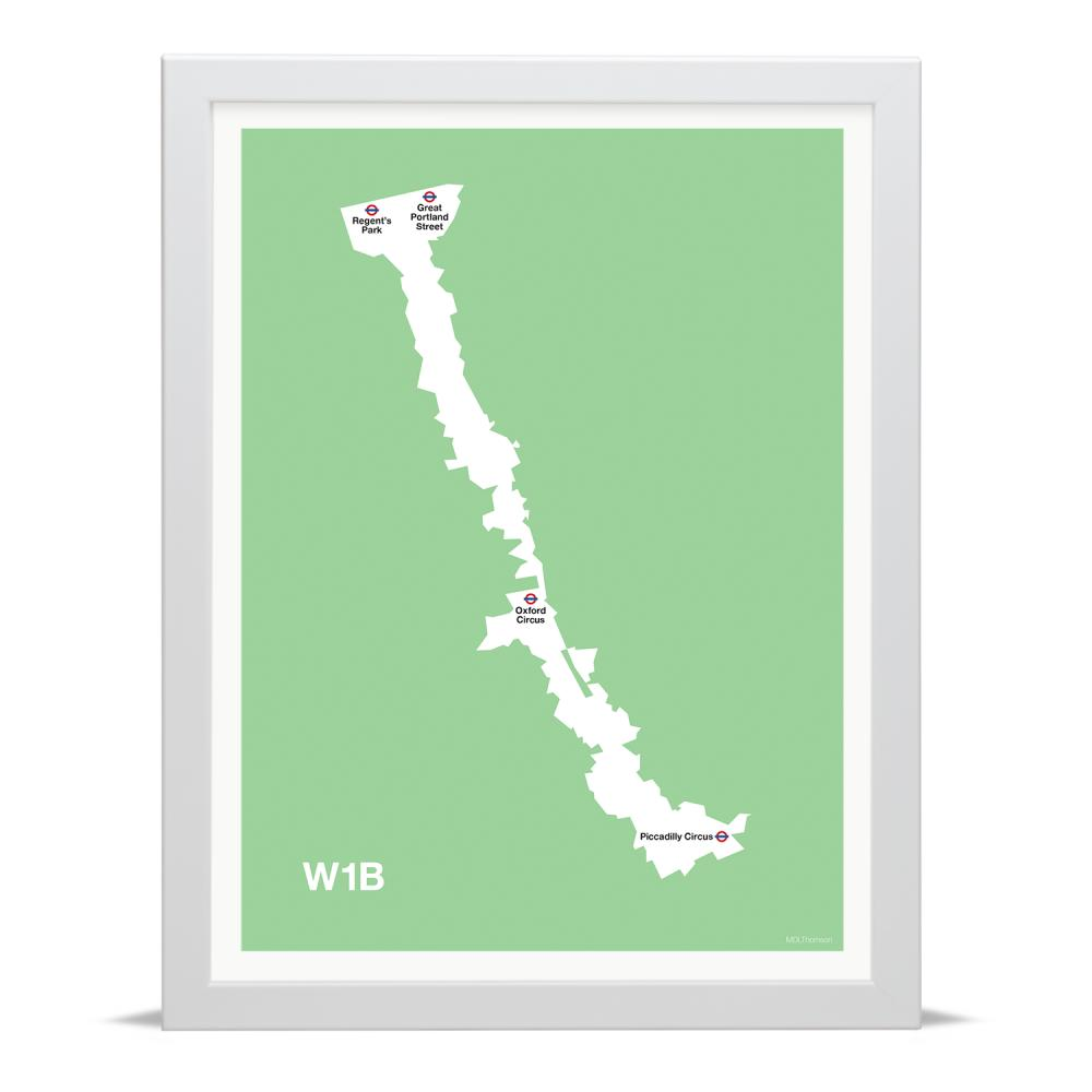 Place in Print MDLThomson W1B Postcode Map Art Print