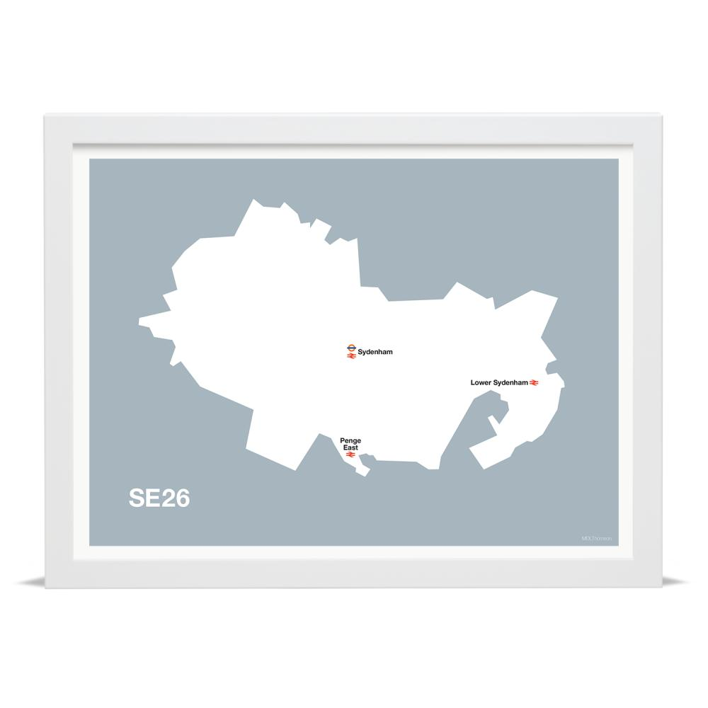 Place in Print MDLThomson SE26 Postcode Map Art Print