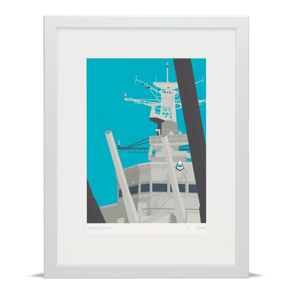 Place in Print London Bridge HMS Belfast Banner Art Poster Print