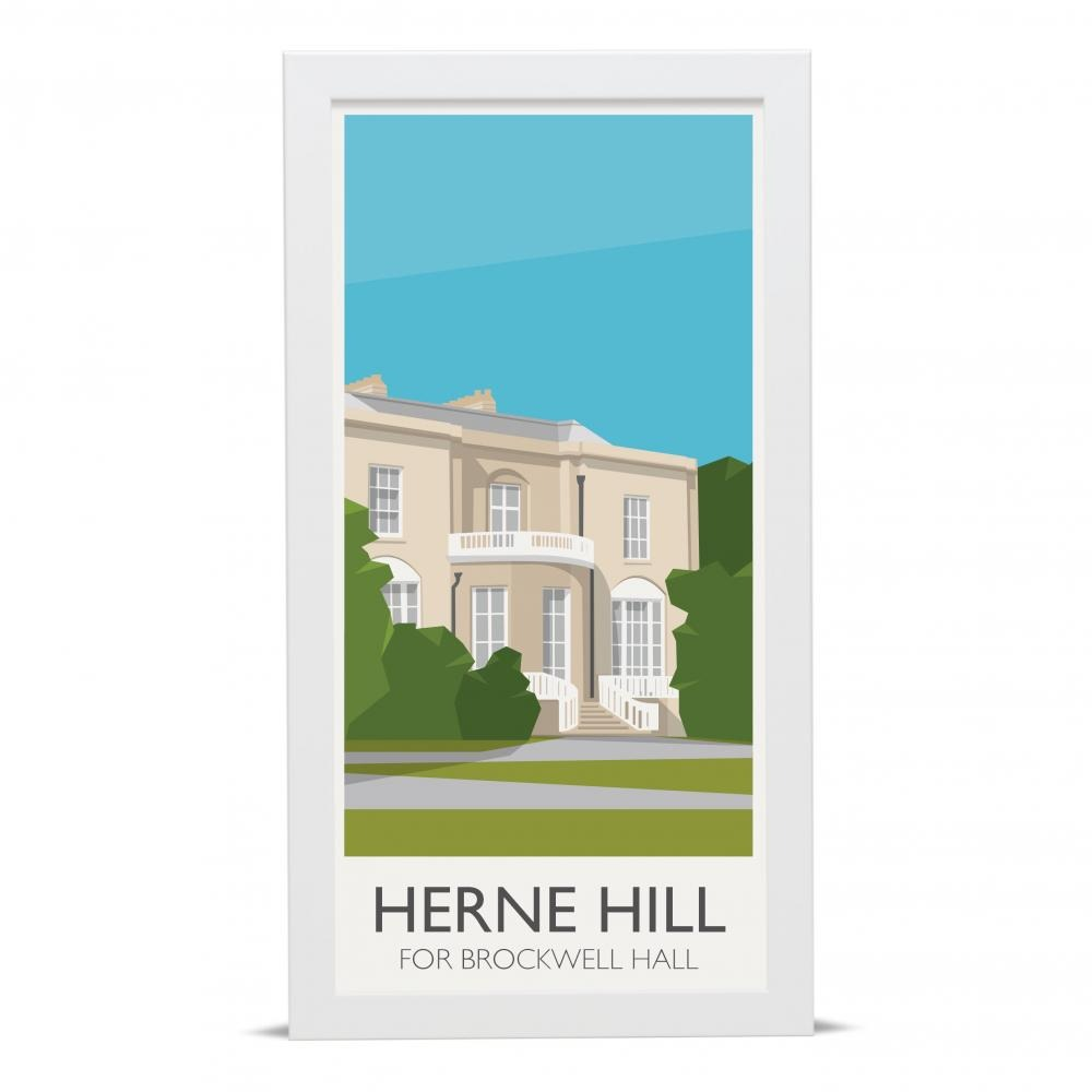 Place in Print Herne Hill Lamppost Brockwell Hall Art Poster Print