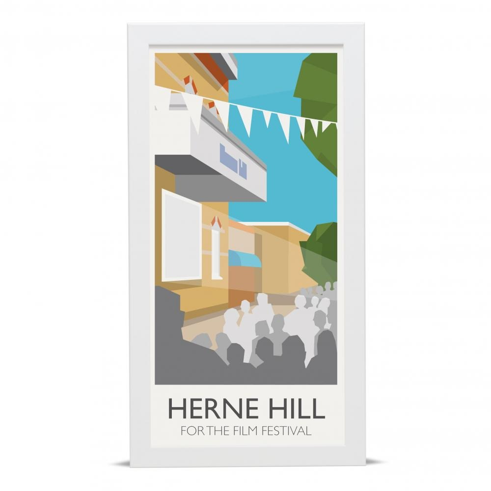 Place in Print Herne Hill Lamppost Banners Film Festival Art Poster Print