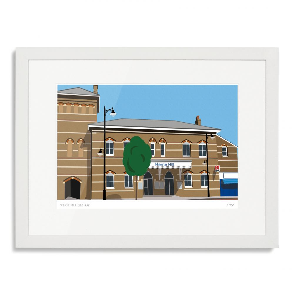 Herne Hill Station Art Poster Print