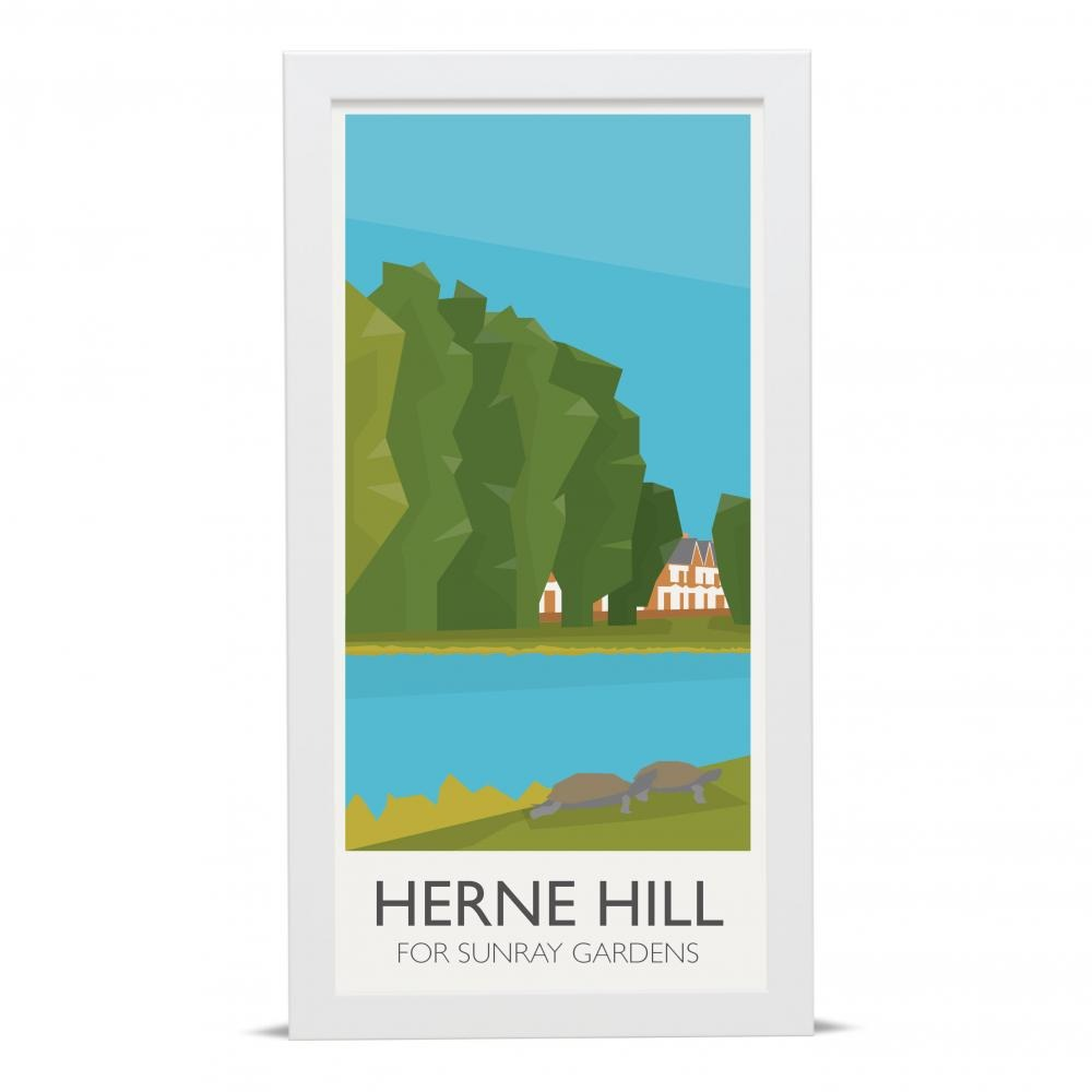 Place in Print Herne Hill Lamppost Banners Sunray Gardens Art Poster Print