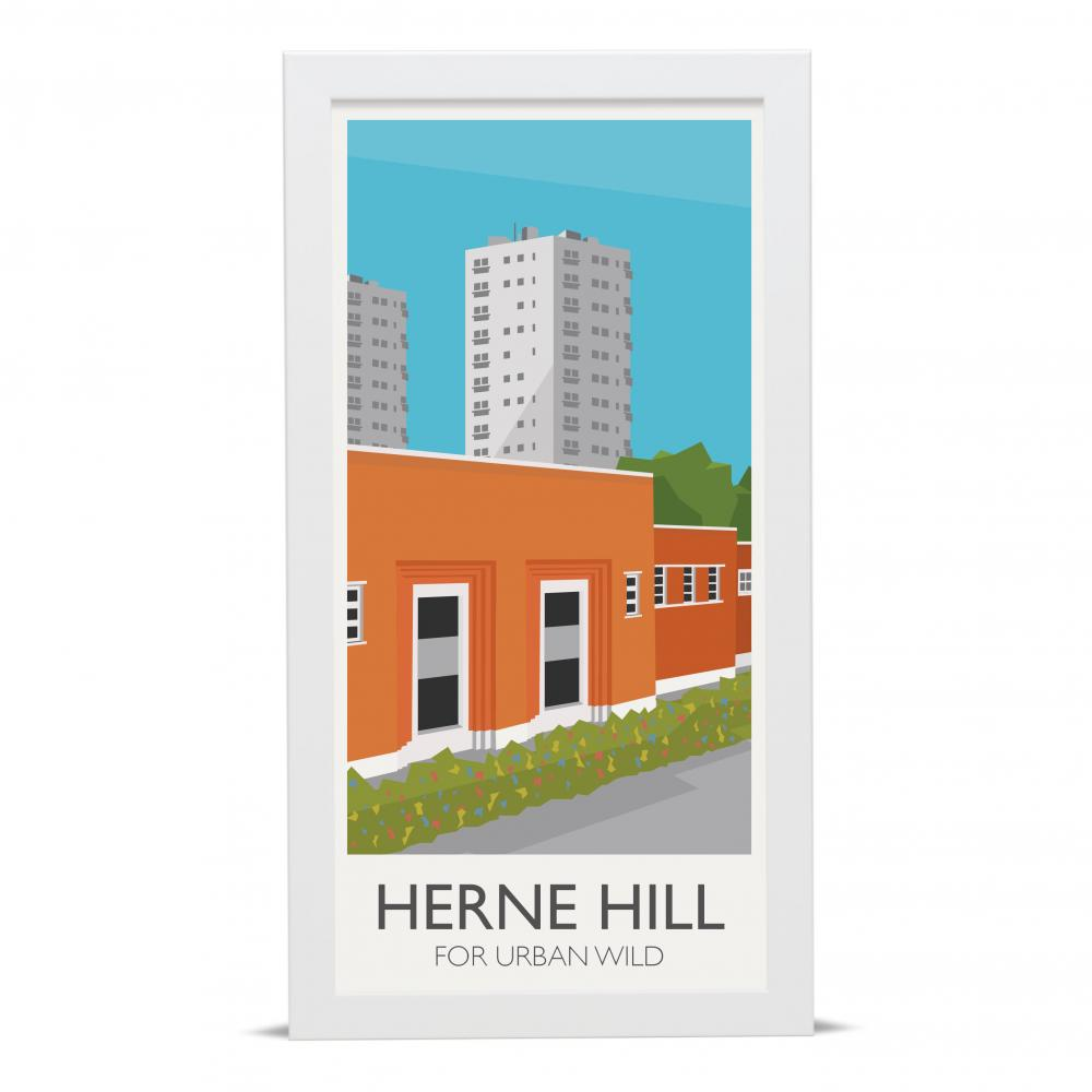 Place in Print Herne Hill Lamppost Banners Urban Wild Art Poster Print
