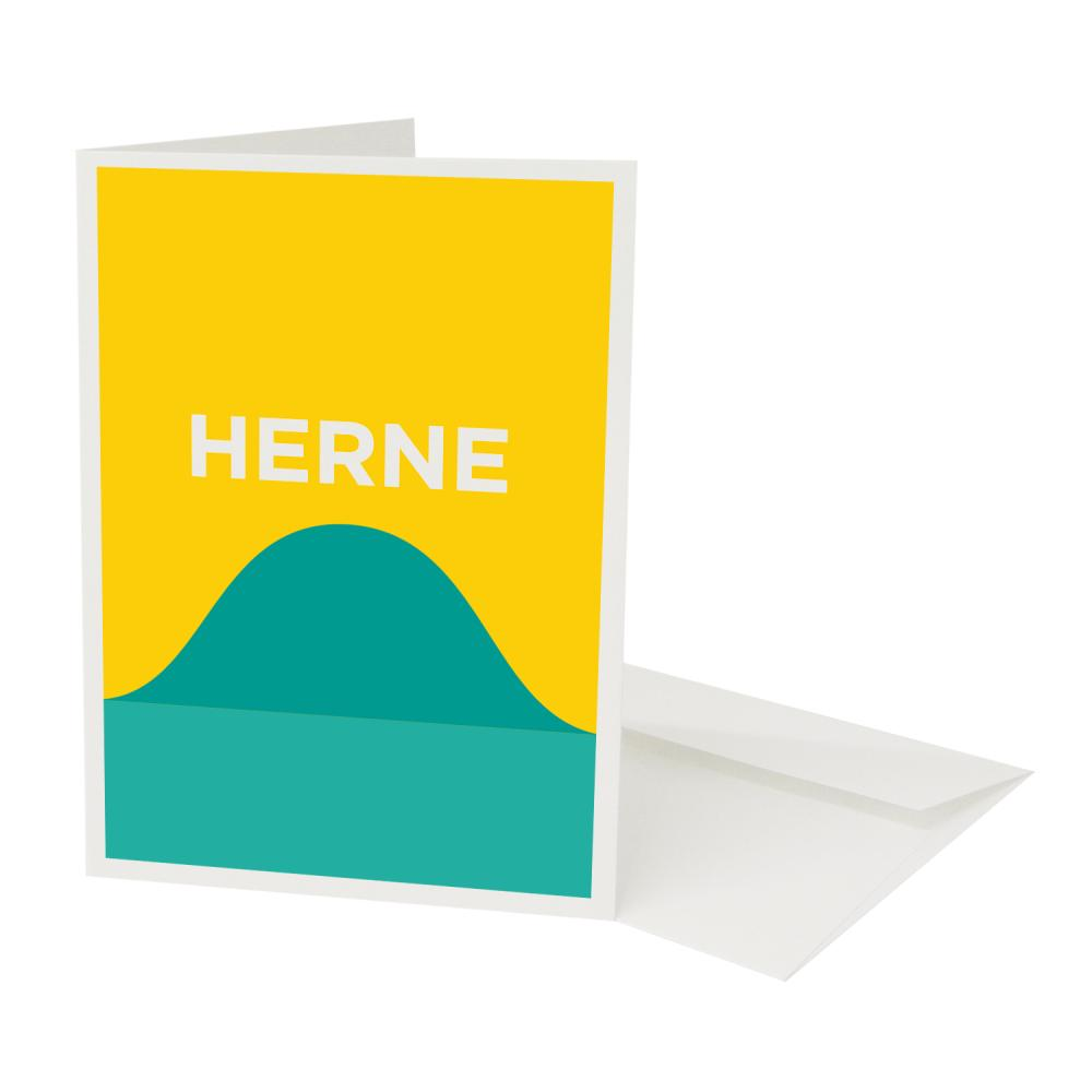 Place in Print Pate Herne Hill Neighbourhood Pun Greetings Card