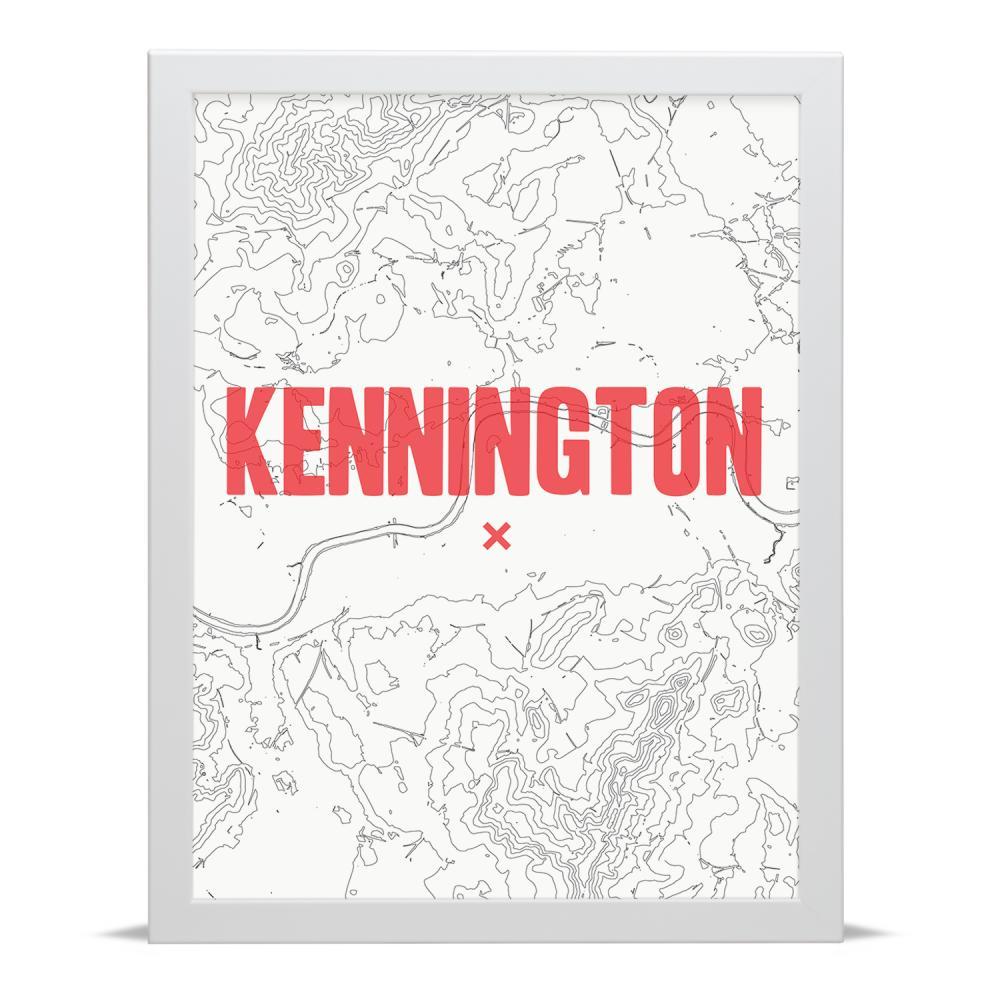Place in Print Kennington Contour Map Art Print