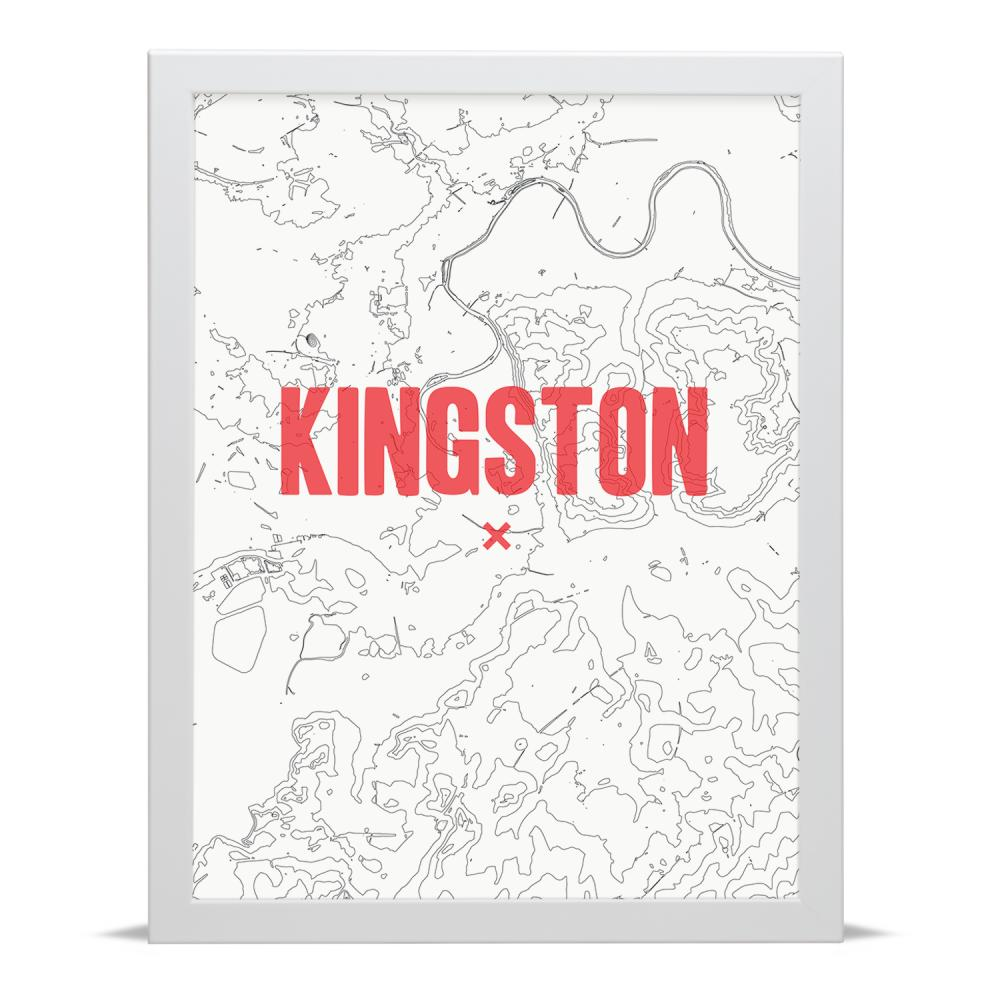 Place in Print Kingston Contour Map Art Print
