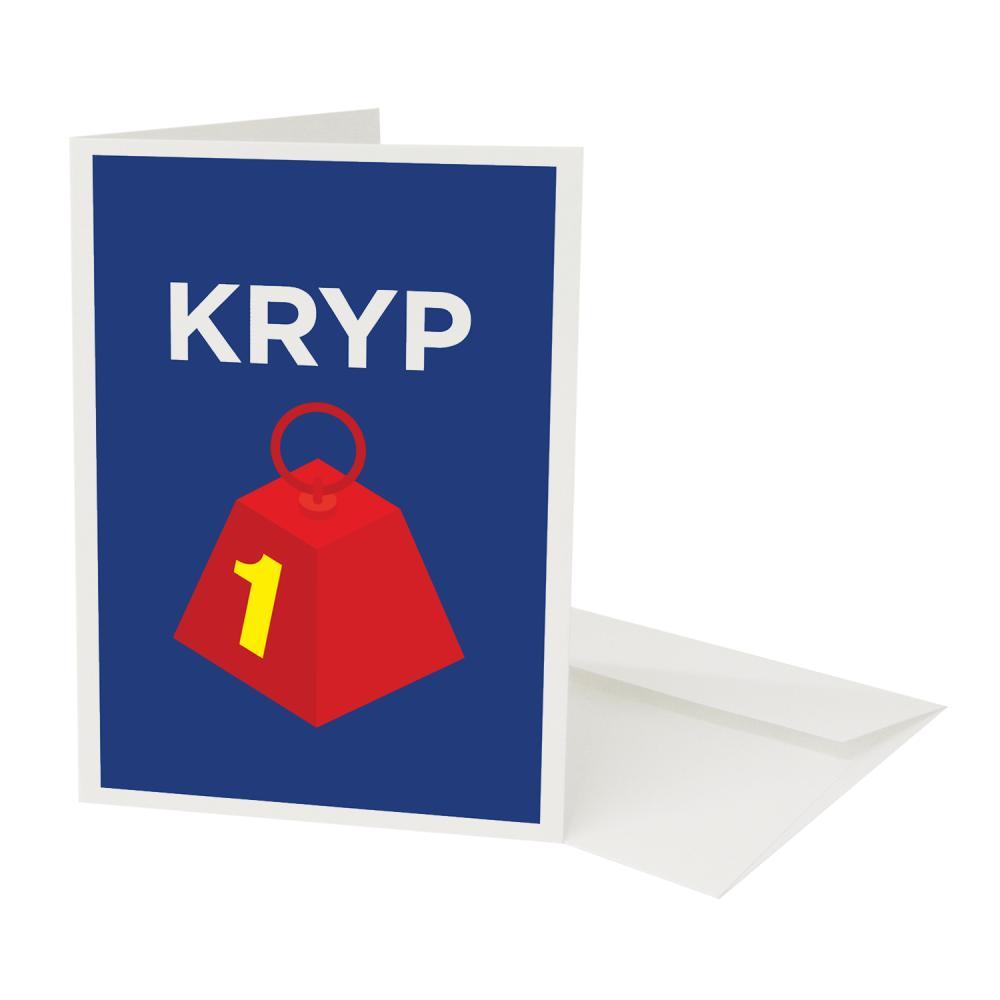 Place in Print Pate Krypton Neighbourhood Pun Play on Worlds Greetings Card