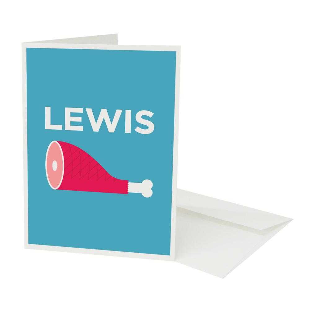 Place in Print Lewisham Pate Neighbourhood Pun Greetings Card