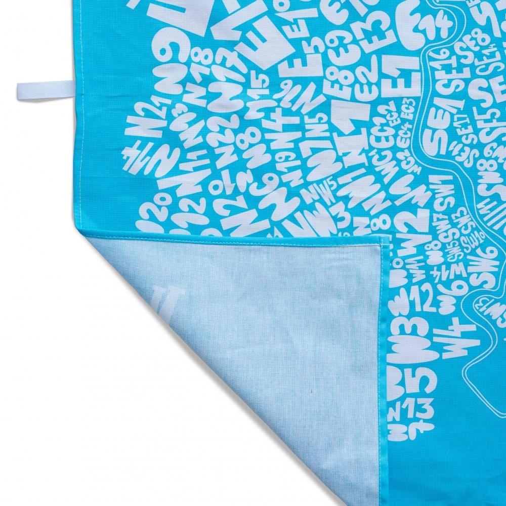 Place in Print South London Prints London Postcodes Tea Towel