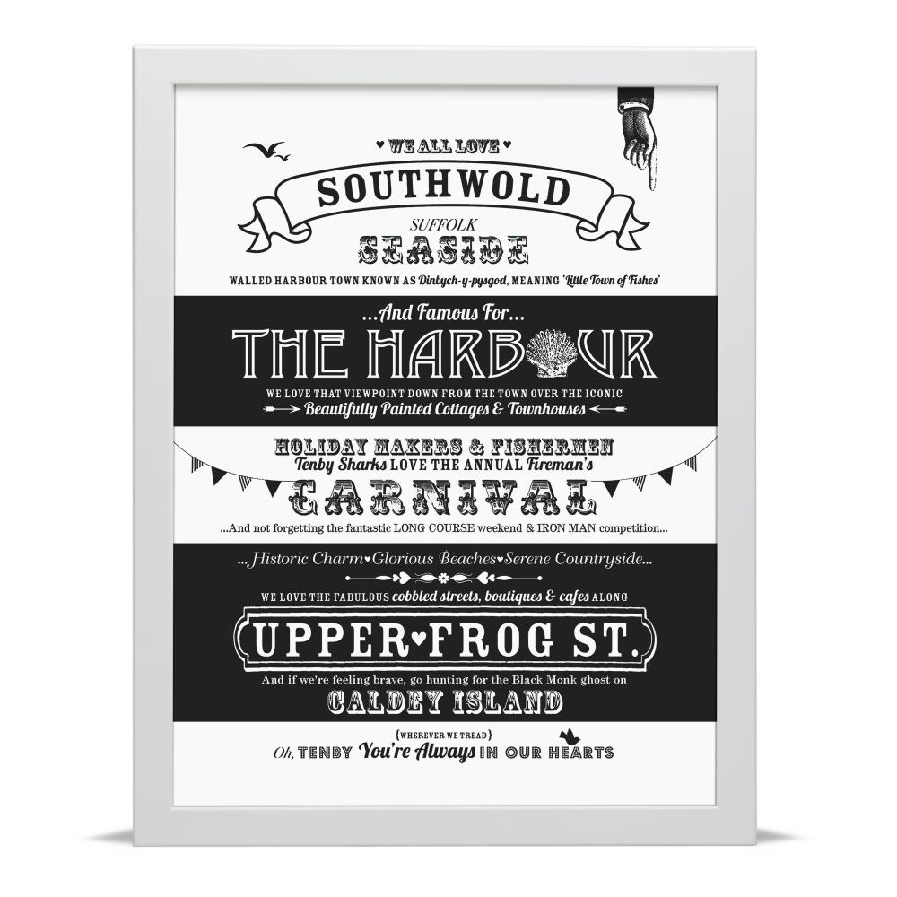 Place in Print Octavia Plum Southwold Love Your Location Art Print