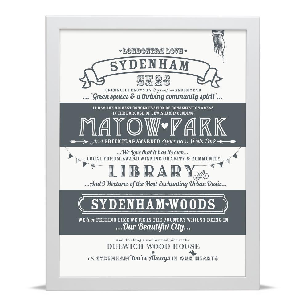 Place in Print Octavia Plum Sydenham Love Your Location Art Print