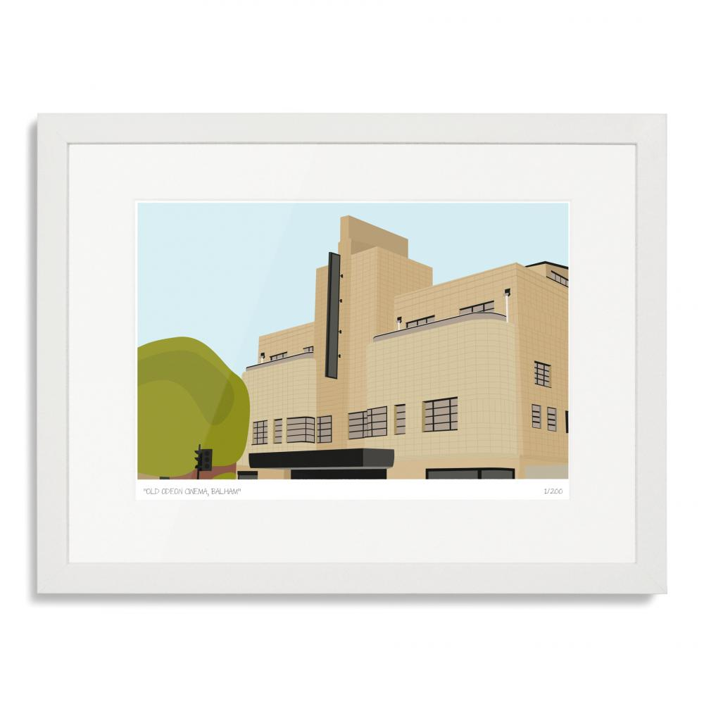 Odeon Cinema Balham Art Poster Print