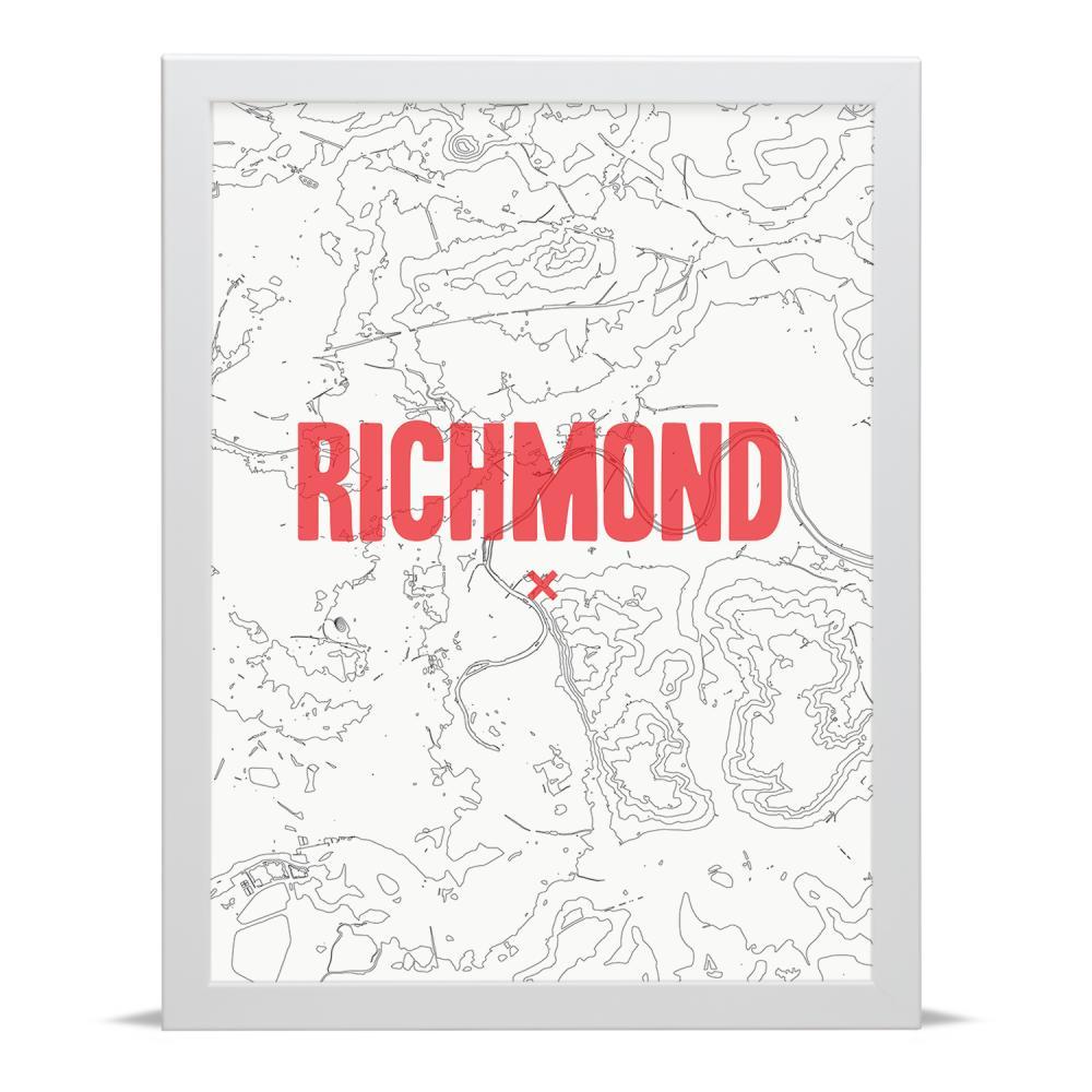 Place in Print Richmond Contour Map Art Print