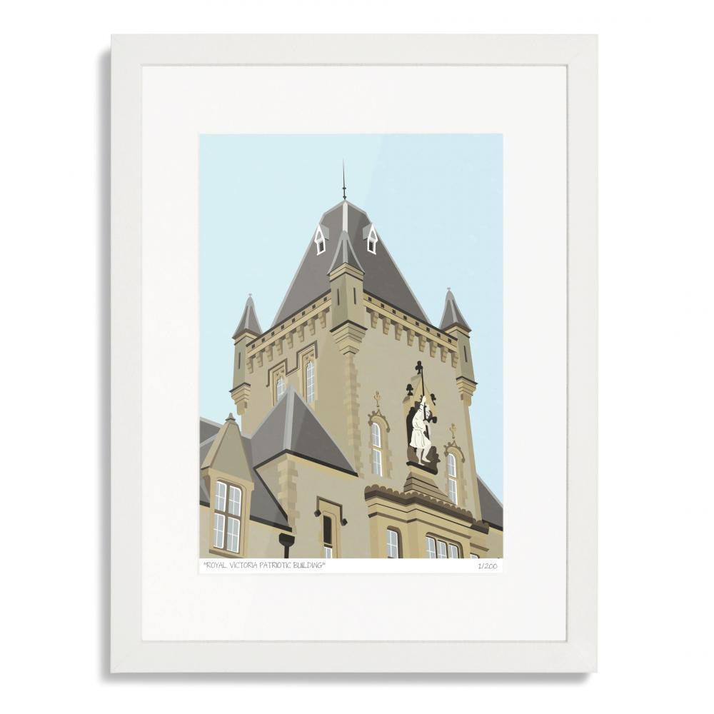 Royal Victoria Patriotic Building Art Print