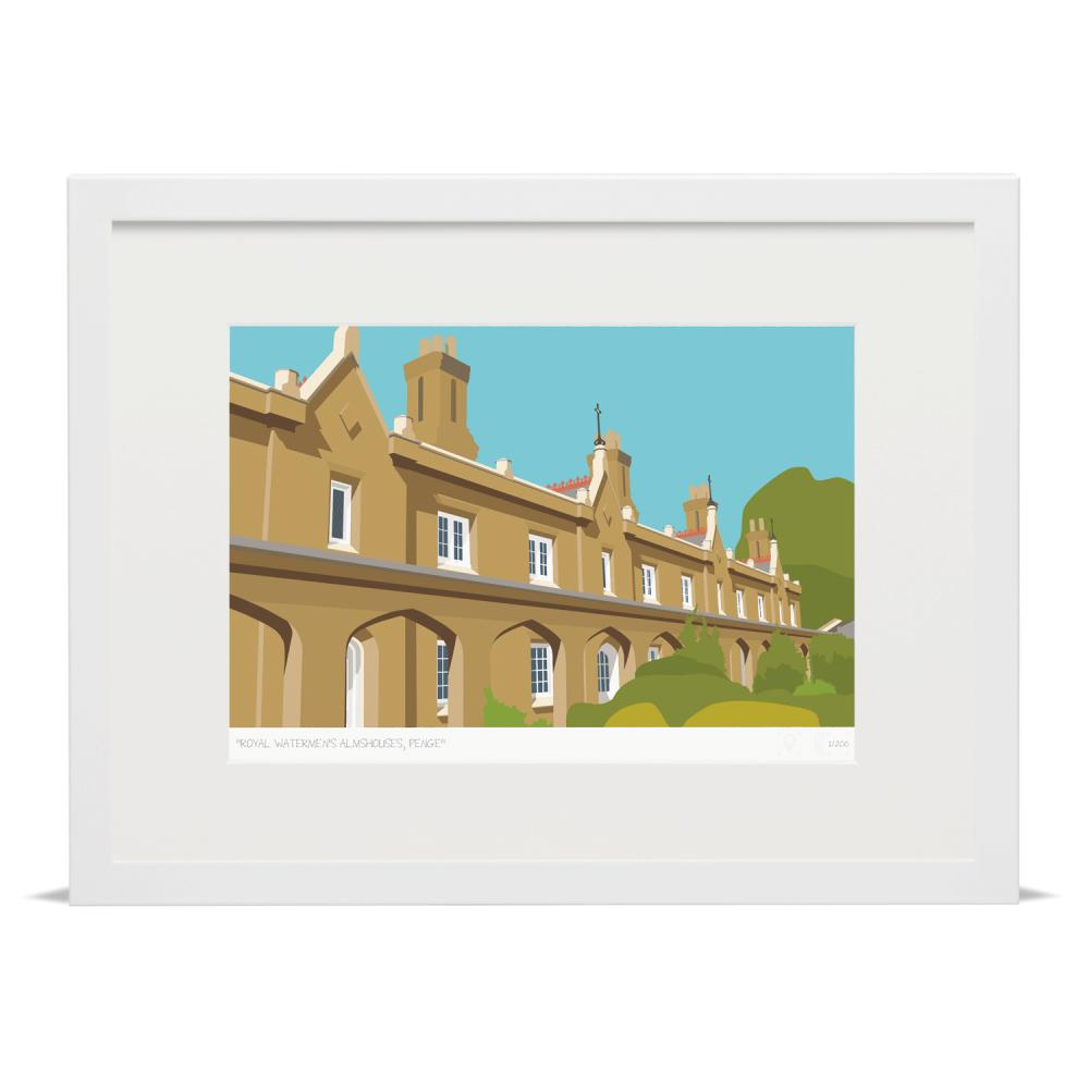 Place in Print Royal Watermens Almshouses Penge Art Poster Print