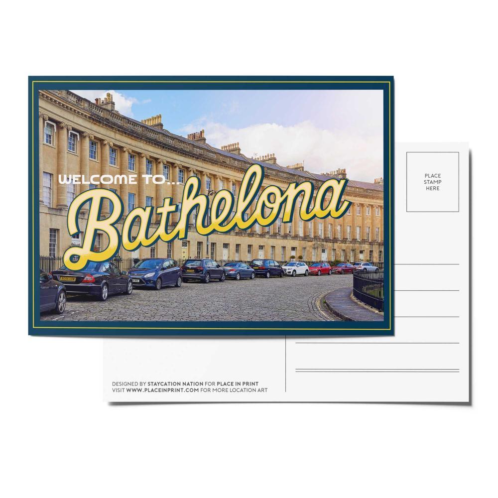 Place in Print Staycation Nation Bathelona Postcard