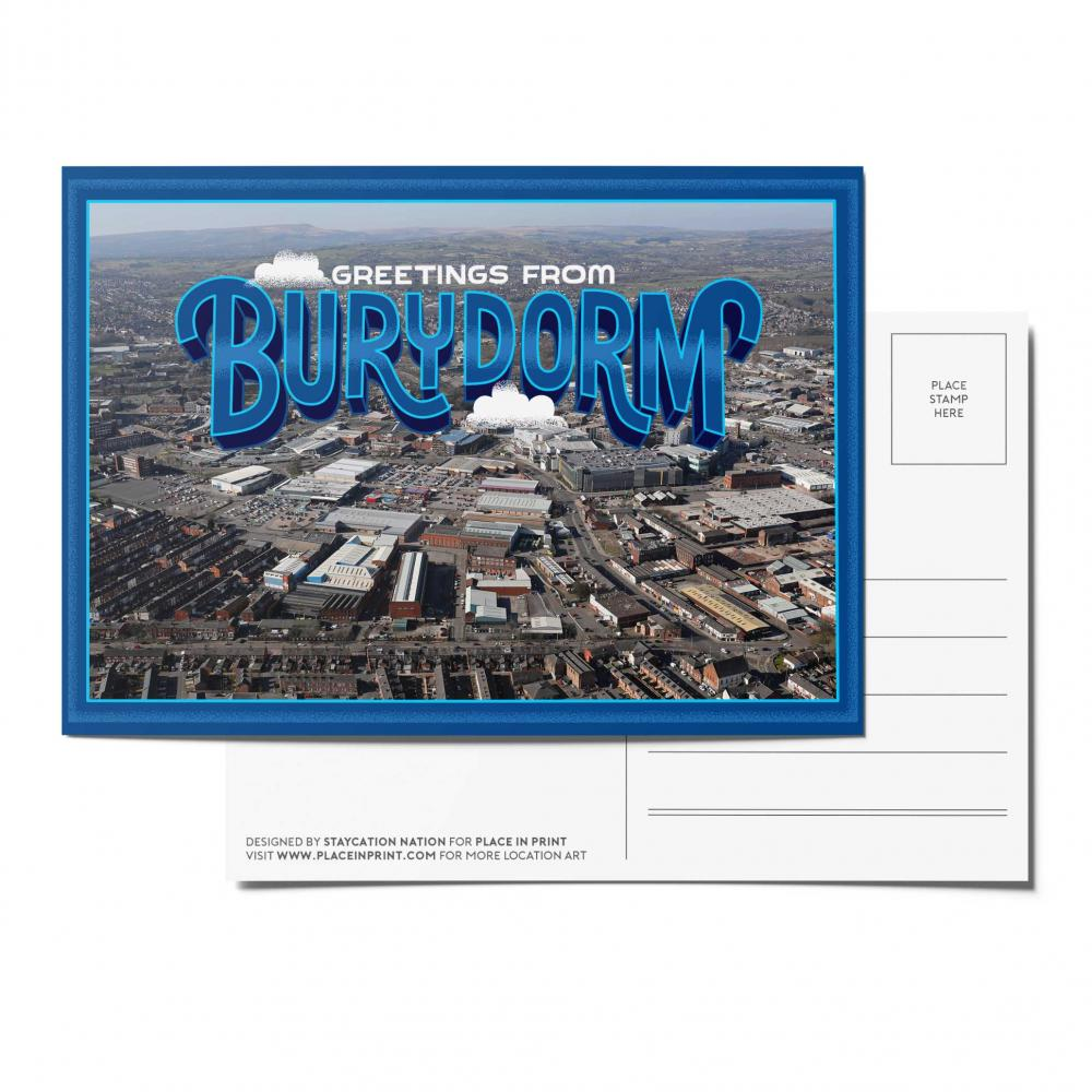 Place in Print Staycation Nation Burydorm Postcard