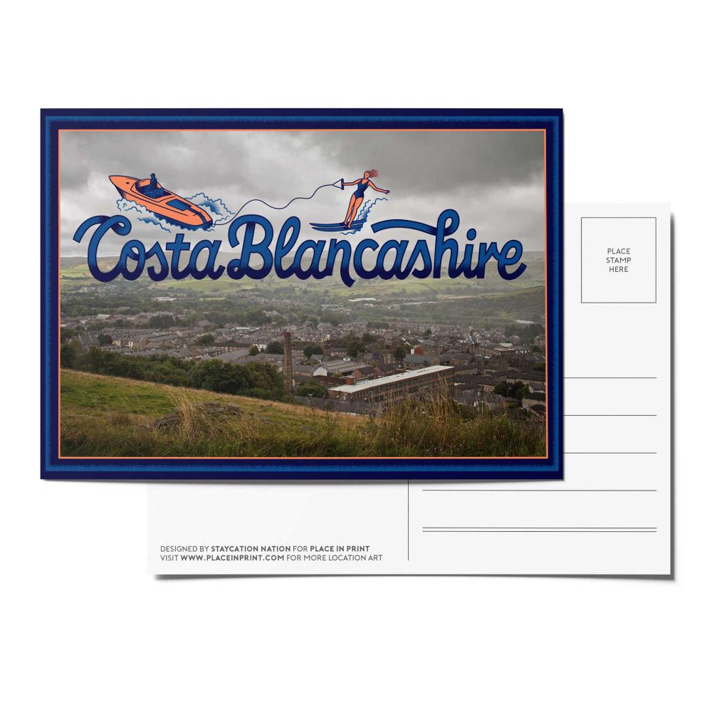 Place in Print Staycation Nation Costa Blancashire Postcard