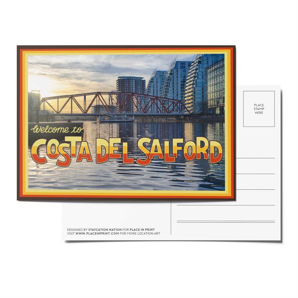 Place in Print Staycation Nation Costa del Salford Postcard