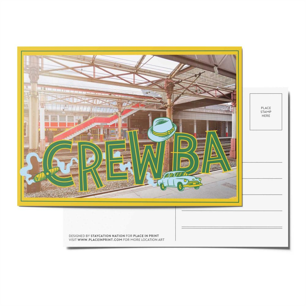 Place in Print Staycation Nation Crewba Postcard