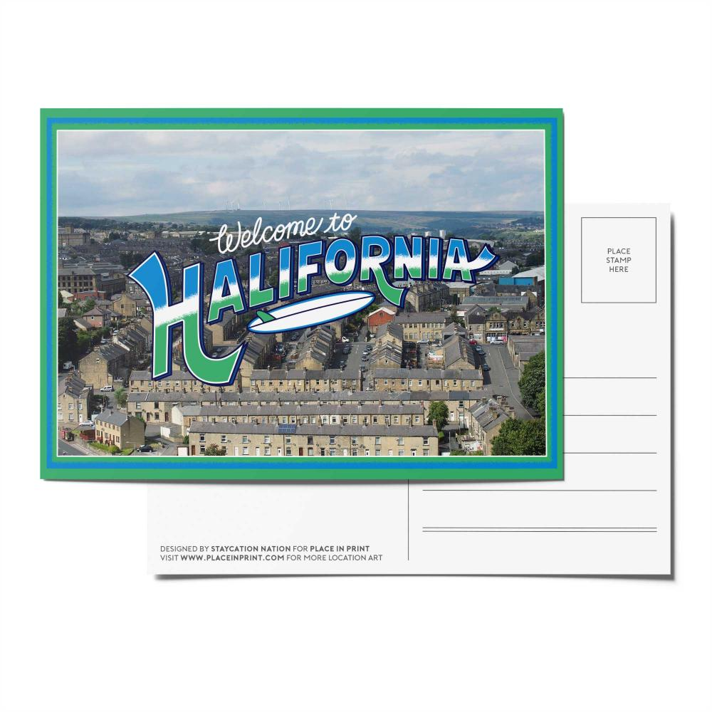 Place in Print Staycation Nation Halifornia Postcard