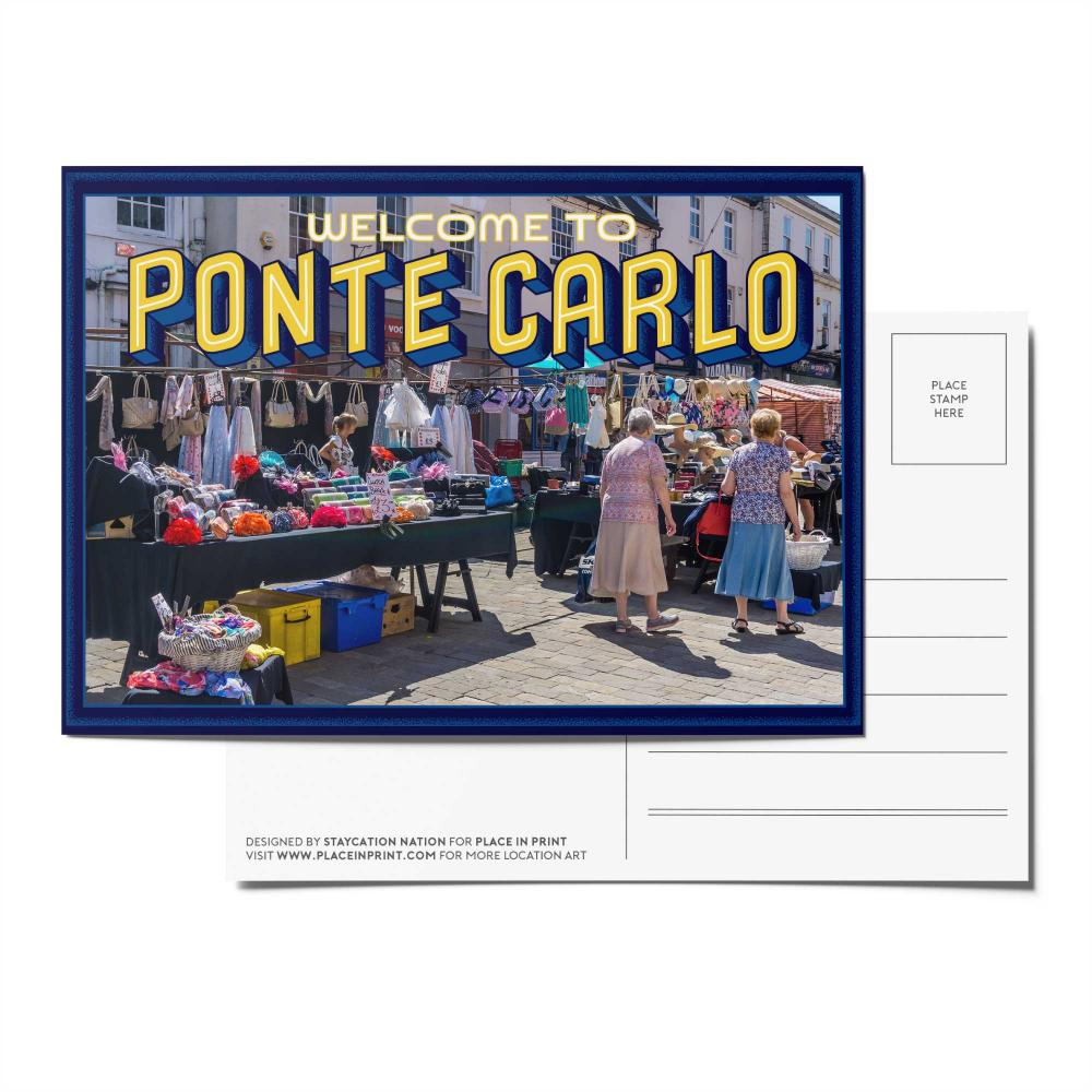 Place in Print Staycation Nation Ponte Carlo Postcard