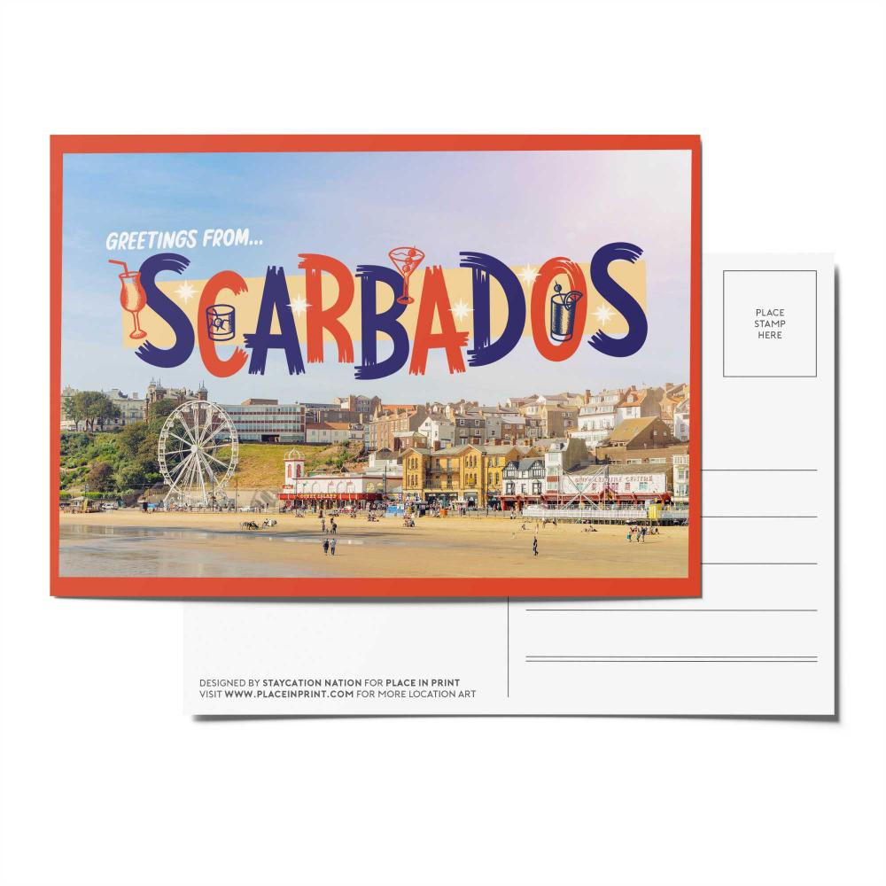 Place in Print Staycation Nation Scarbados Postcard