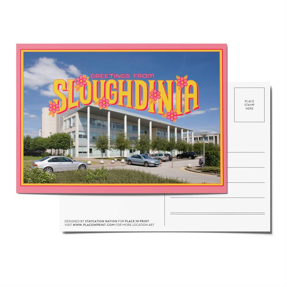 Place in Print Staycation Nation Sloughdinia Postcard