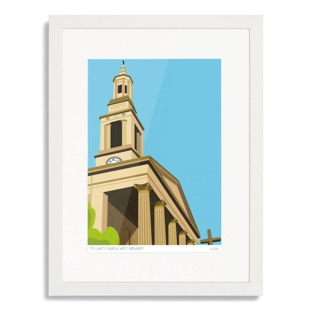 St Lukes Church West Norwood Art Poster Print