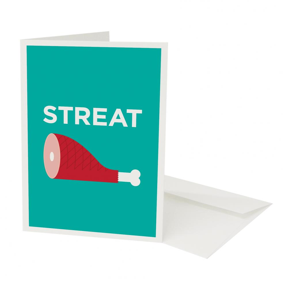 Pate Streatham Art Print Card Place Pun
