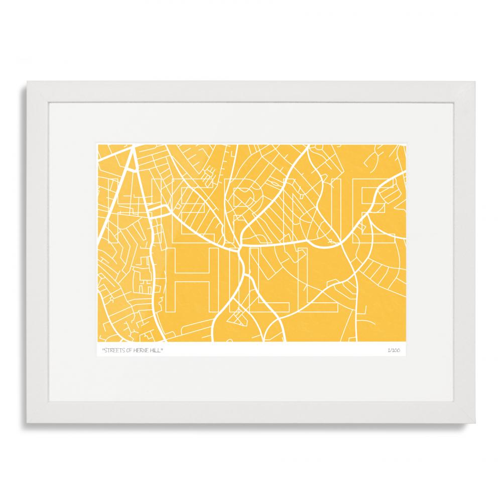 Streets of Herne Hill Art Poster Print