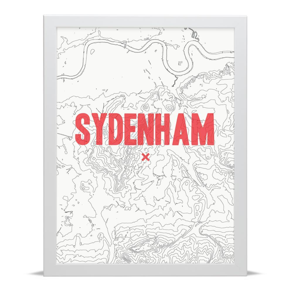 Place in Print Sydenham Contour Map Art Print