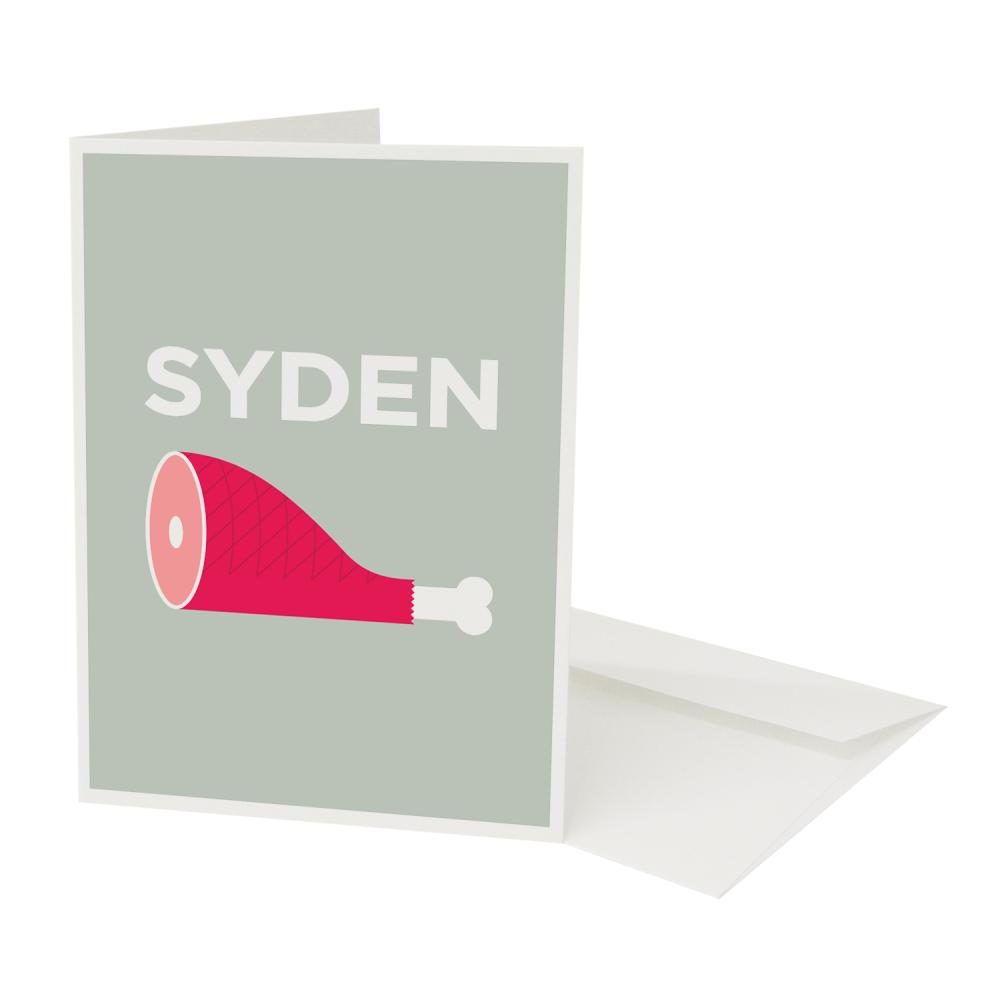 Place in Print Sydenham Pate Neighbourhood Pun Greetings Card