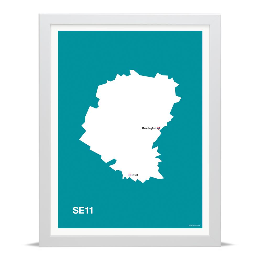 Place in Print MDLThomson SE11 Postcode Map Art Print