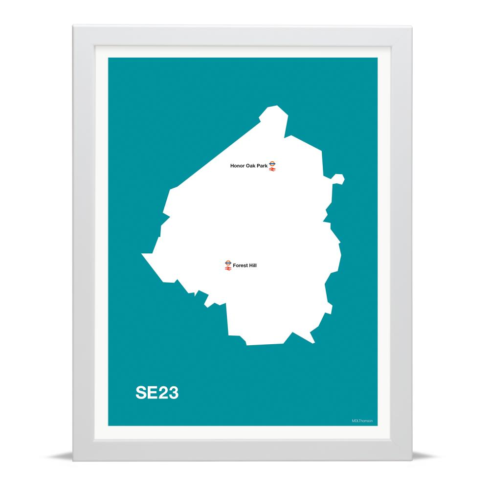 Place in Print MDLThomson SE23 Postcode Map Art Print