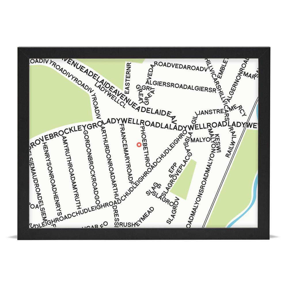 Place in Print Personalised Typographic Street Map Art Print