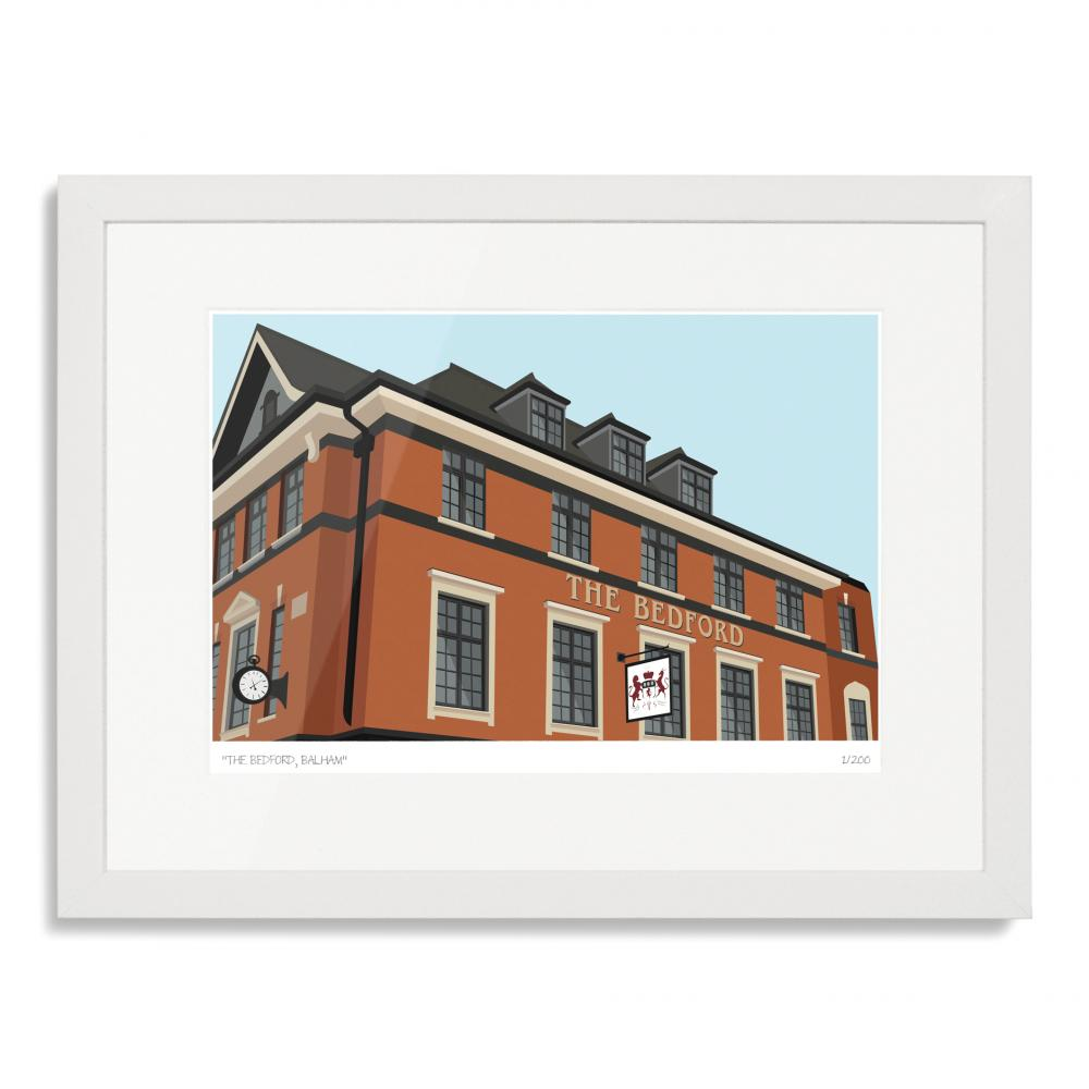 South London Prints The Bedford Balham Art Poster Print