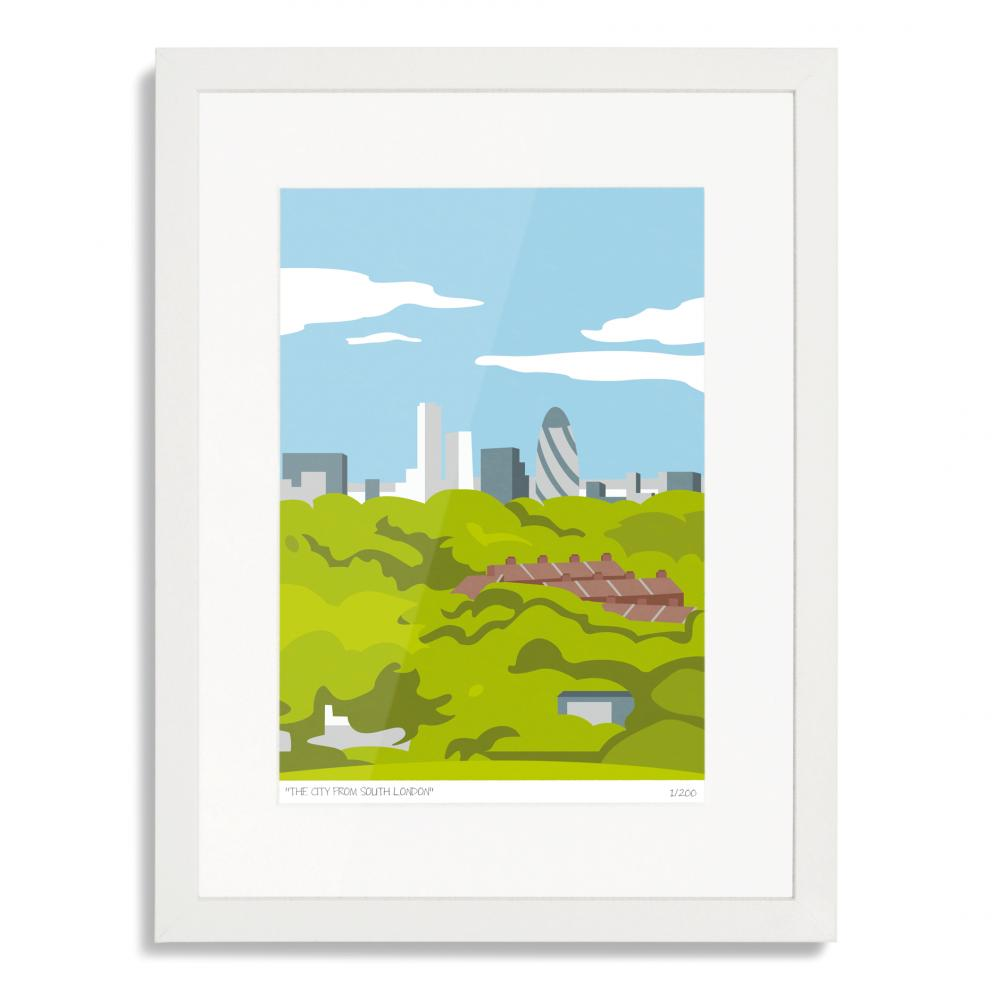 The City from South London Art Poster Print
