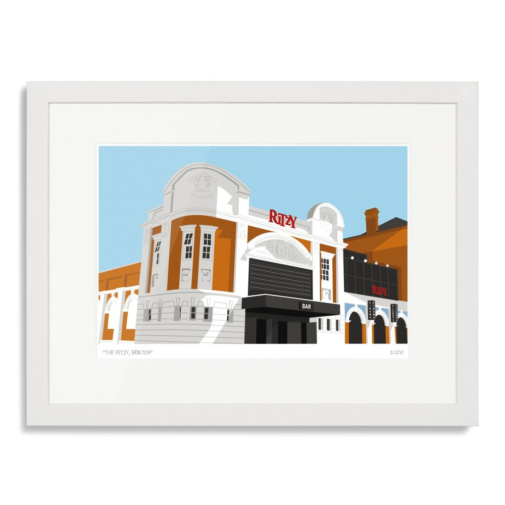 The Ritzy Brixton Art Poster Print