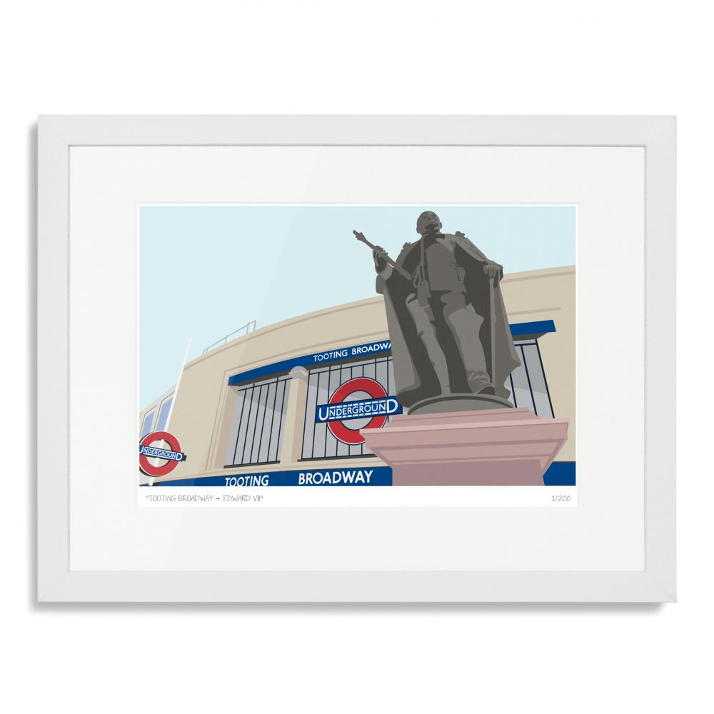 Tooting Broadway Edward VII Art Poster Print