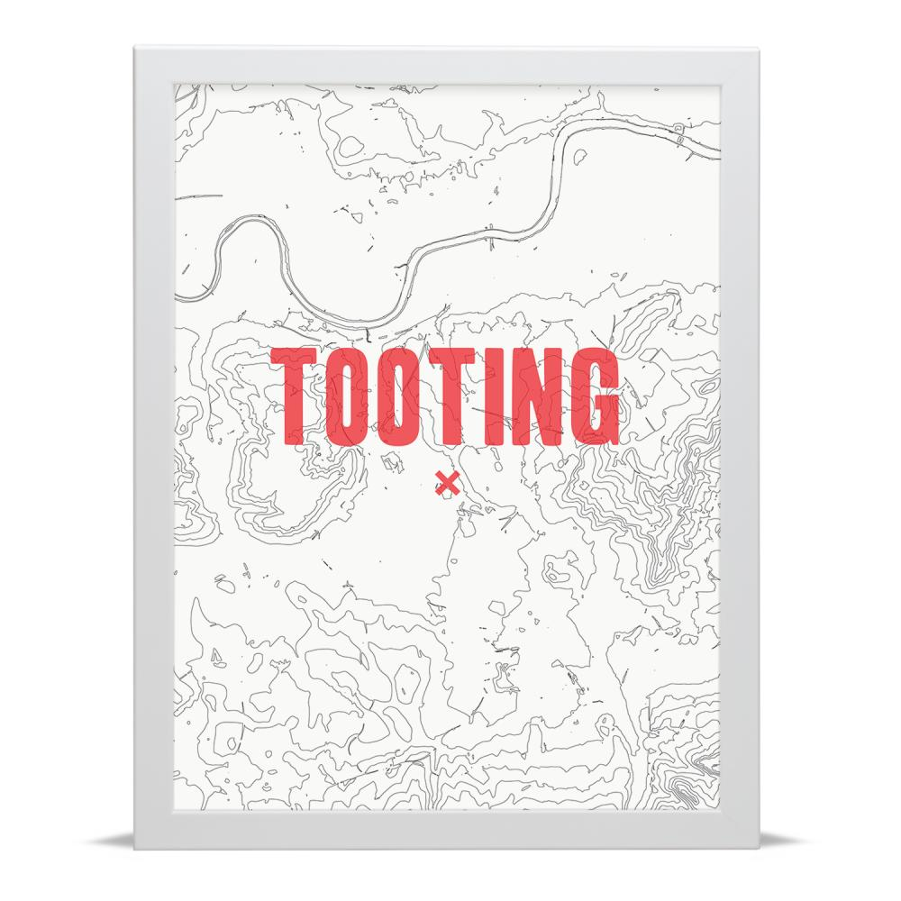 Place in Print Tooting Contour Map Art Print