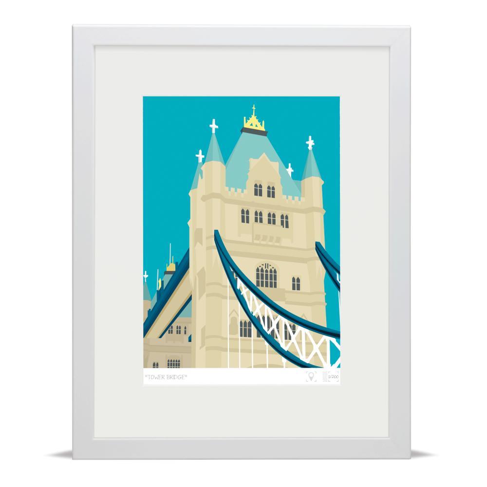Place in Print Tower Bridge London Banner Art Poster Print