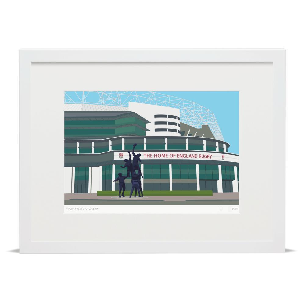 Place in Print Twickenham Rugby Stadium London Art Print