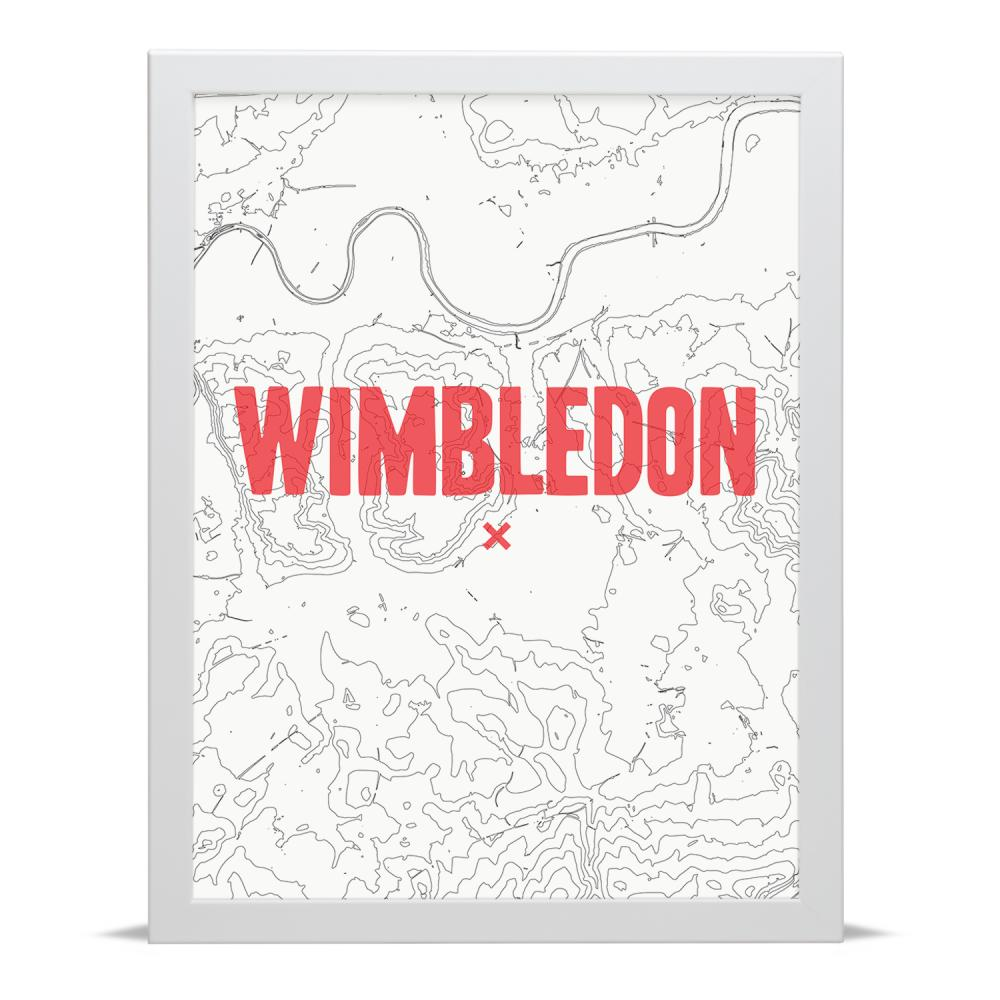 Place in Print Wimbledon Contour Map Art Print