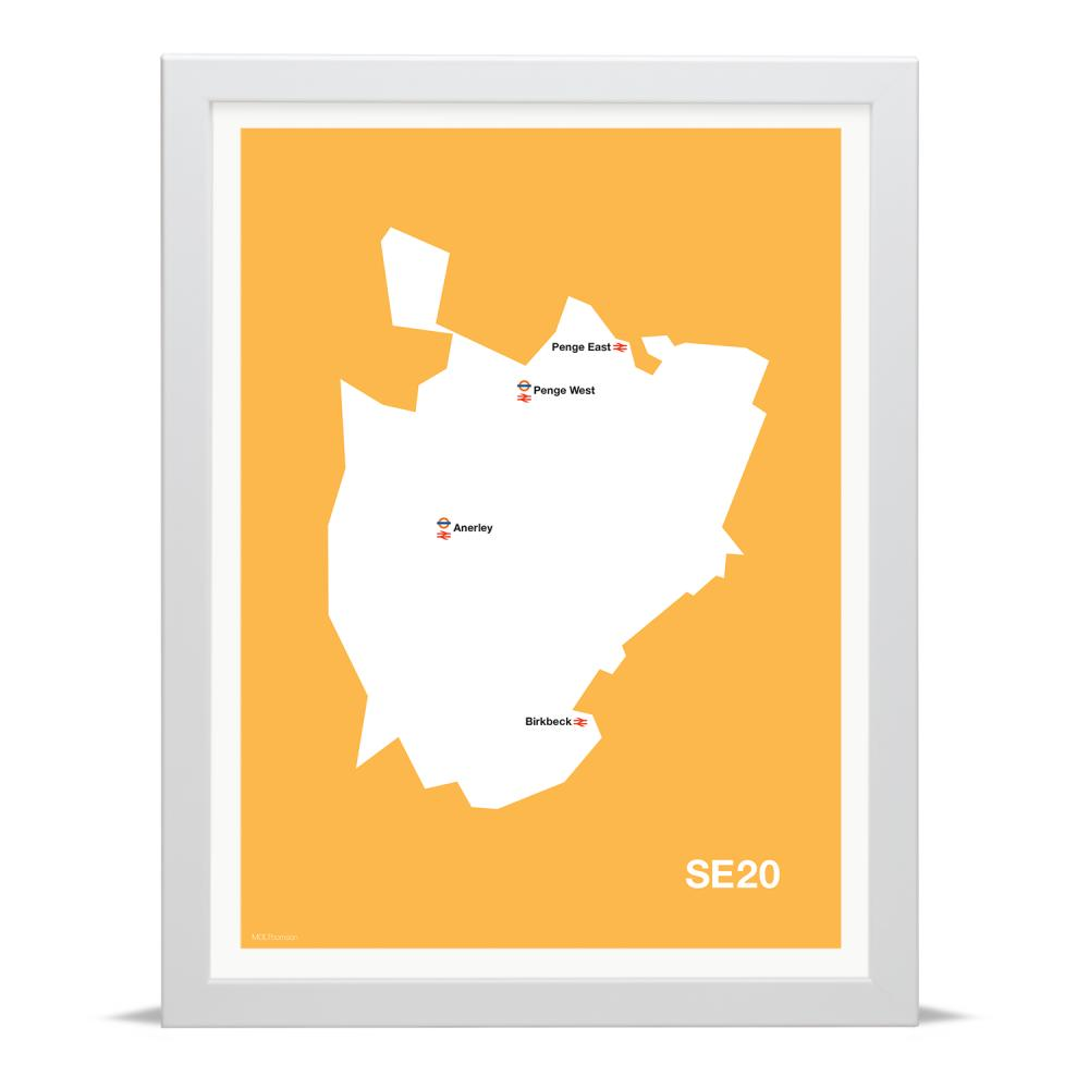 Place in Print MDLThomson SE20 Postcode Map Art Print