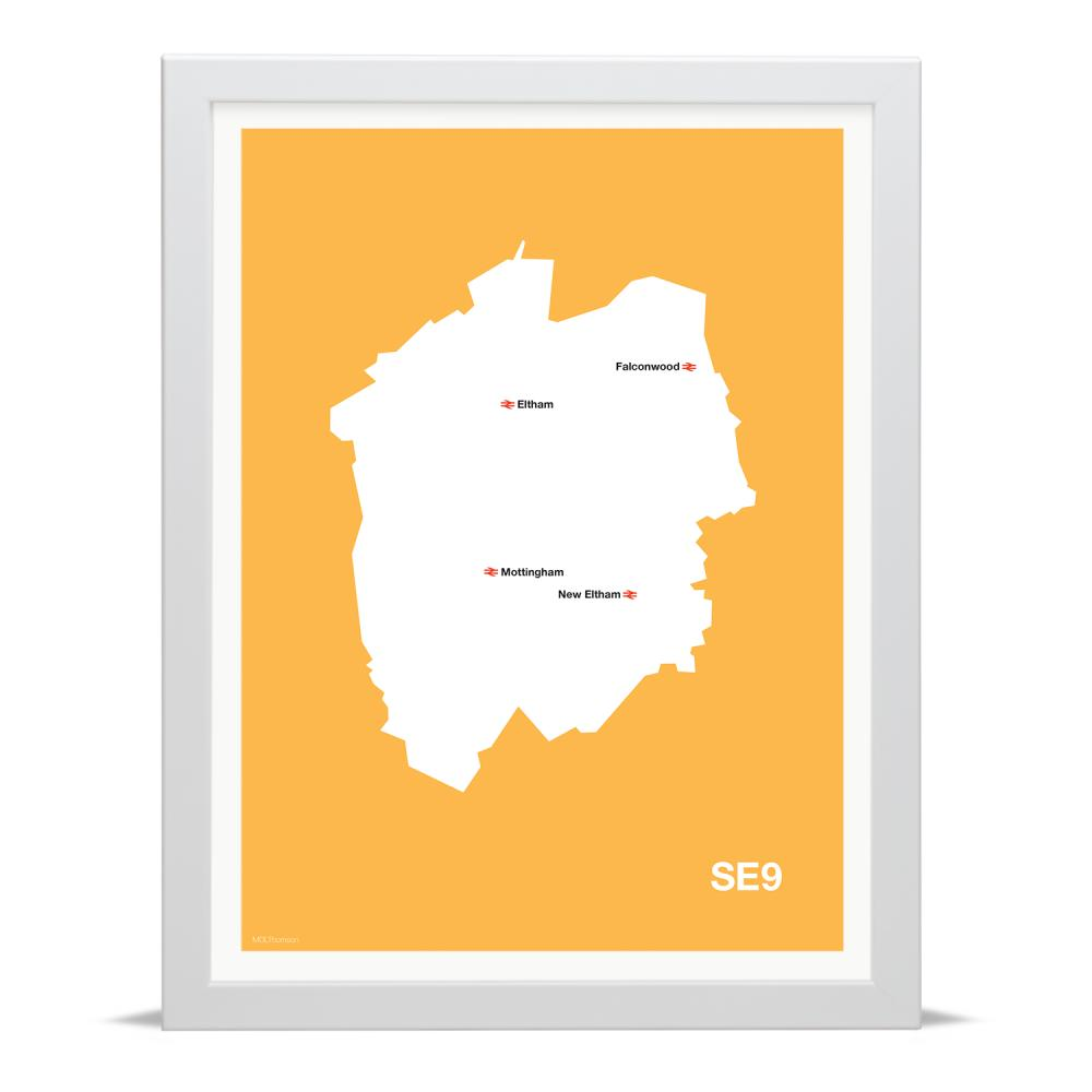 Place in Print MDLThomson SE9 Postcode Map Art Print