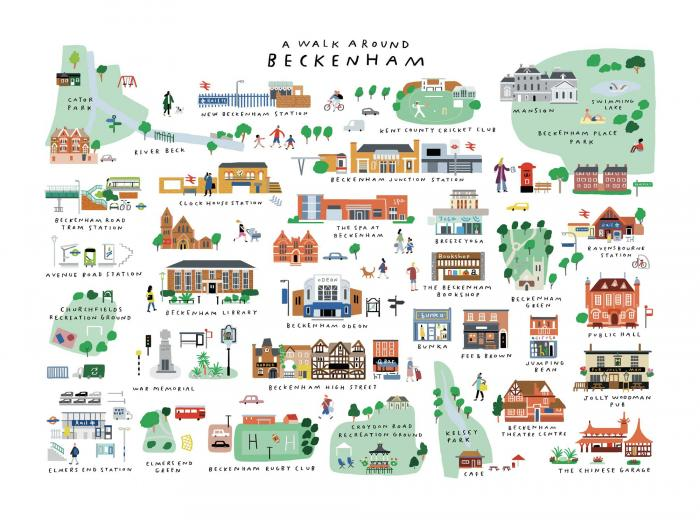 Place in Print A Walk Around Beckenham Art Print