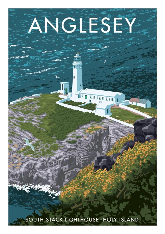 Place in Print Stephen Millership Anglesey Travel Poster Travel Poster Art Print