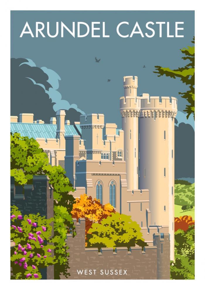 Place in Print Stephen Millership Arundel Castle Travel Poster Travel Poster Art Print